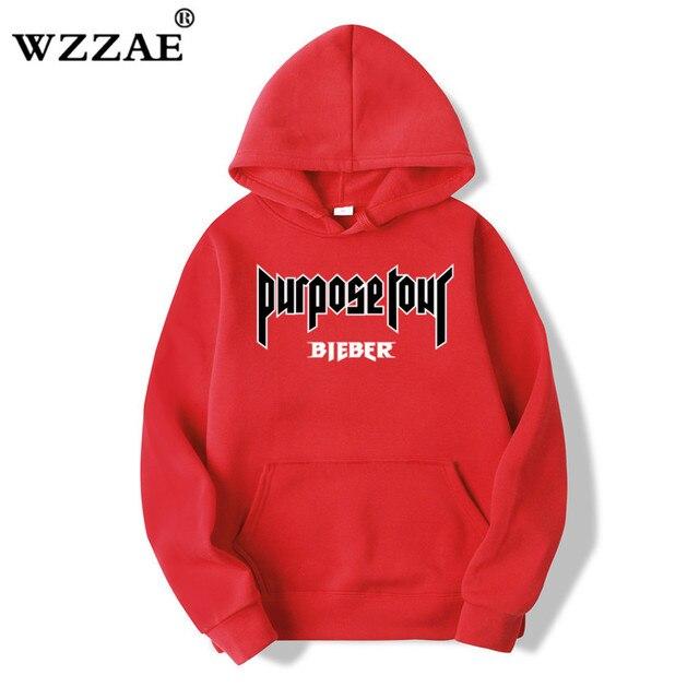 2020 Justin Bieber Poster Hip Hop Sweat Homme Hoodie Hooded Man Letters Justin Bieber Purpose Tour Streetwear Gray Black Hoodies 2