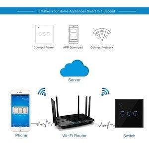 Image 5 - Interruptor táctil Wifi 1/2/3 Gang Samrt Panel de interruptor inalámbrico de inteligencia sincronización y Control remoto aplica