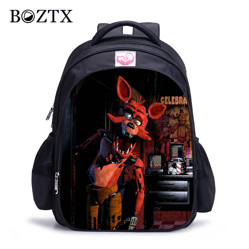 Cartoon Five Nights At Freddys Printing School Bags Backpack Children Schoolbags for Teenagers Boys&Girls School Book Bag Kids fnaf cute maine coon cat printing backpacks for kids cartoon school bags children teenagers boys girls schoolbag child book bag
