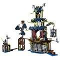 1069 шт. Ниндзя Город Stiix Мастера Кружитцу Building Blocks Дети Кирпичи Игрушки Совместимые с legoe