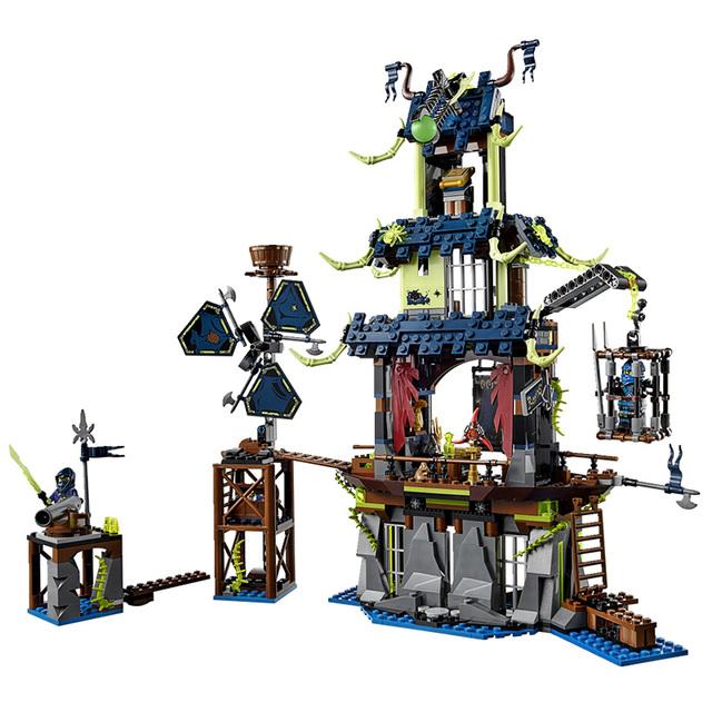 1069 unids Ninja Ciudad de Stiix Maestros Spinjitzu Building Blocks Ladrillos Niños Juguetes Compatible con legoe