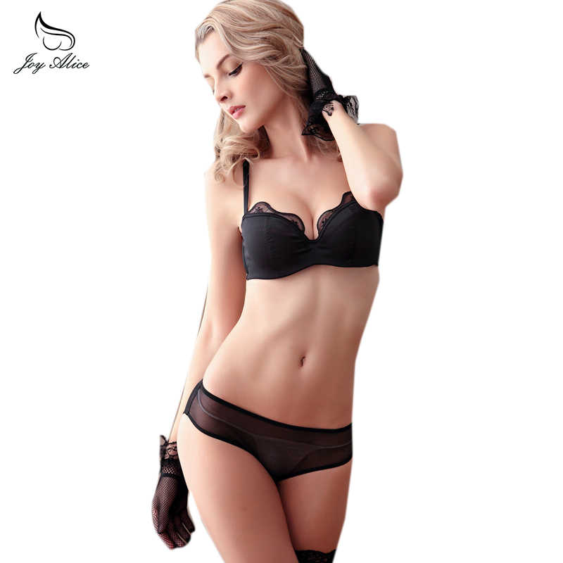 8b13dd5de5 ABCD CupFemal Intimates Floral Lace Lingerie Set Hollow Out Back Underwear  Women Push Up Bra Set