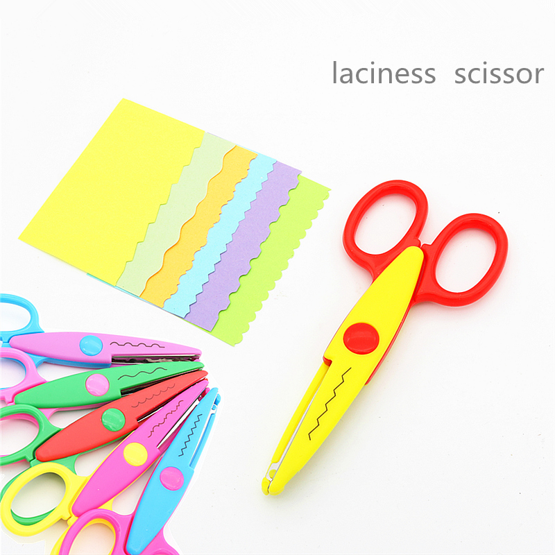 Decorative Wave Laciness Edge  Scissors DIY For Scrapbook Handmade Kids Artwork Card Safe Free Ship