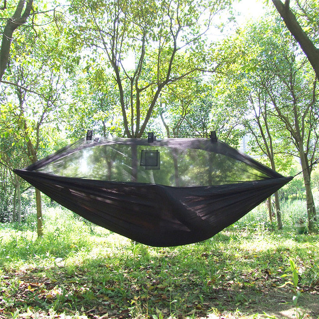 Summer outdoor c&ing hammock mosquito net single anti mosquito gauze hammock Parachute Nylon Camouflage Military Hammock & Summer outdoor camping hammock mosquito net single anti mosquito ...