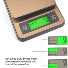 Digital Coffee Scale with Timer Temperature Probe LCD Display With USB