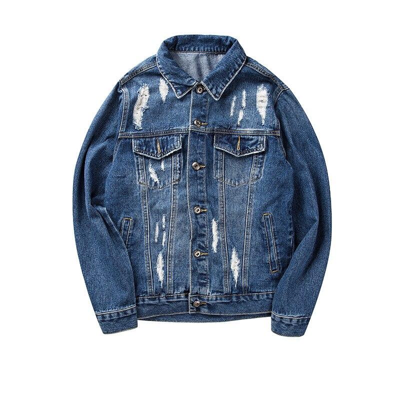3039a62f45 Online Shop Graffiti Letter Men Ripped Denim Jackets Mens 2017 Printed  Jeans Women Coat Hip Hop Casual Cotton Blue Biker Denim Holes Coats