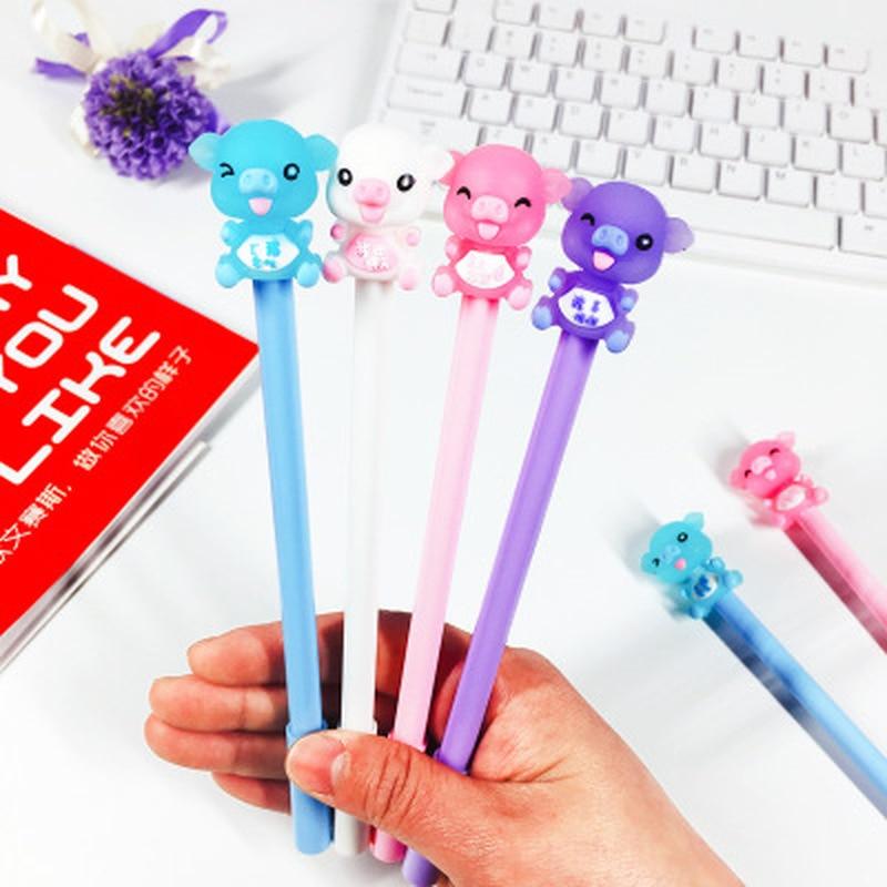 1pcs Piggy Gel Pen Cute Stationery 0.5mm Novelty Kawaii Pen New Student Writing Pens Black Gel Pens Kawaii School Supplies