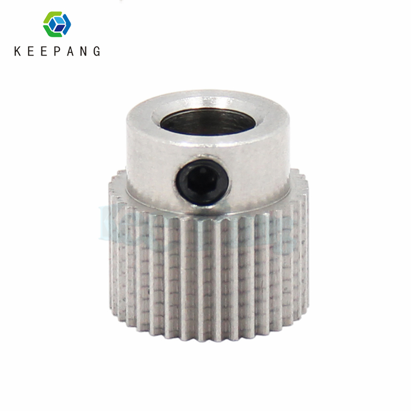 1pc MK7 MK8 36 Teeth Drive Gear Stainless Steel Extruder Feeding Gear Wheel 36 Tooth Extrusion Wheel For 3D Printer blue high rise floral print front slit midi skirts