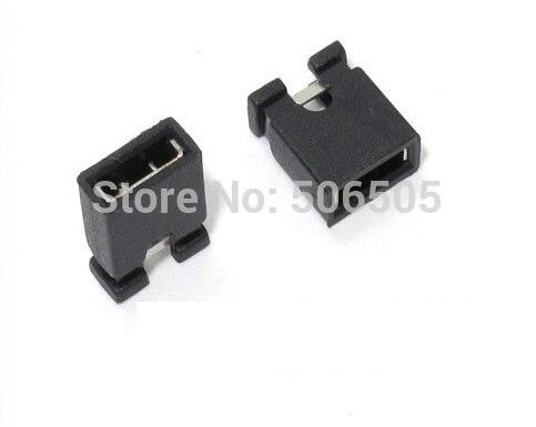 Free shipping 2.54mm Standard Circuit Board Jumper Cap Shunts Short Circuit Cap Computer Jumpers Shunt Cap 1000pcs/lot