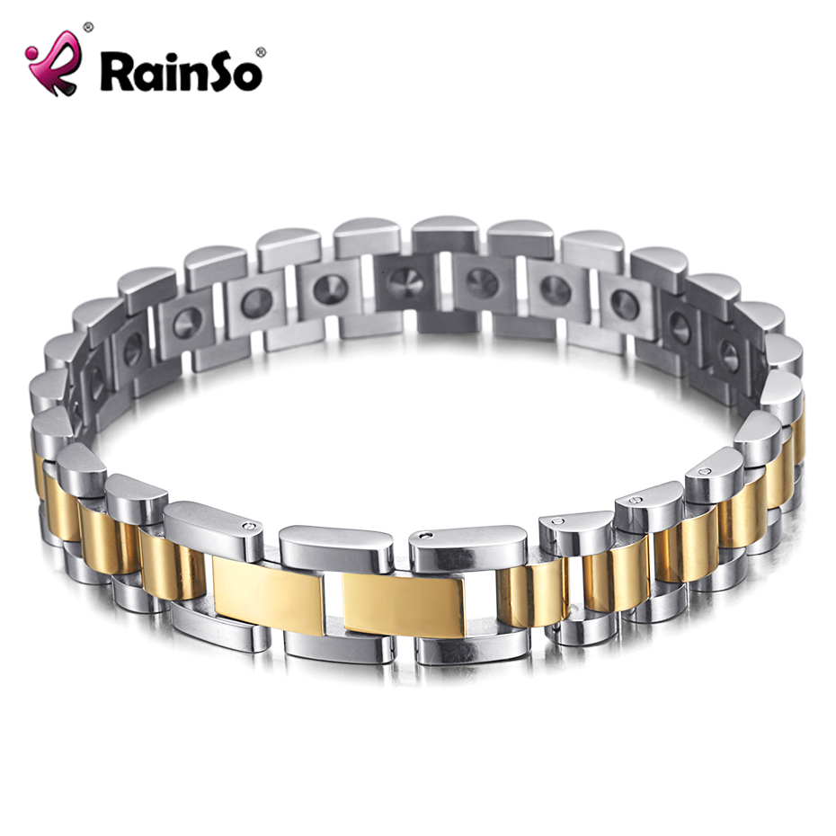 Image 2 - RainSo 99.999% Pure Germanium Bracelet for Women Korea Popular Stainless Steel Health Magnetic Germanium Energy Power Jewelry-in Charm Bracelets from Jewelry & Accessories