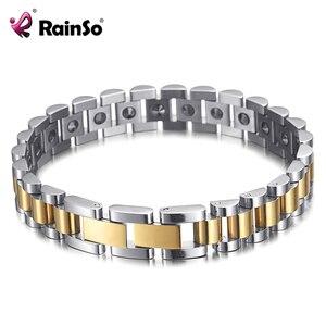 Image 2 - RainSo 99.999% Pure Germanium Bracelet for Women Korea Popular Stainless Steel Health Magnetic Germanium Energy Power Jewelry