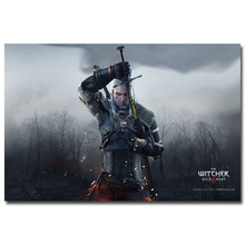 Geralt - The Witcher 3 Wild Hunt Art Silk Fabric Poster Print 12x18 32x48inch New Game Pictures for Home Wall Decor 023