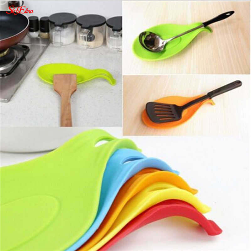 Kitchen Tools Accessories Silicone Spoon Mat,Spatula European Style Spoon Pad For Kitchen Gadget Kitchen Goods 5Z-CF419
