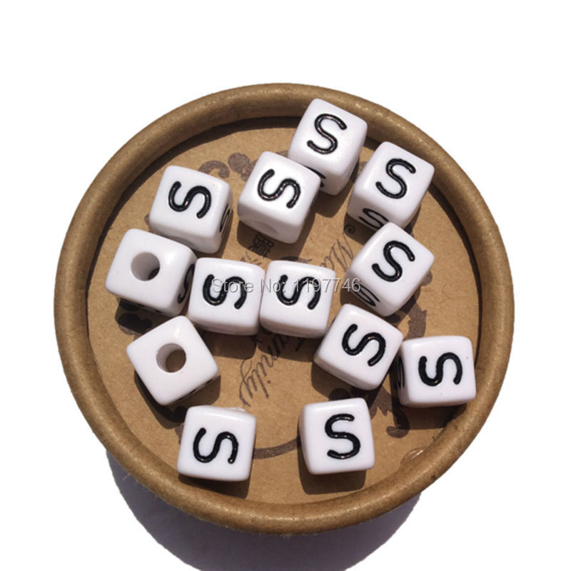 400pcs 10*10mm Selected Natural Wooden Alphabet Beads Cube Square Dice Letter Beads Toys For Jewelry Findings Kid Craft Project Terrific Value Beads Back To Search Resultsjewelry & Accessories