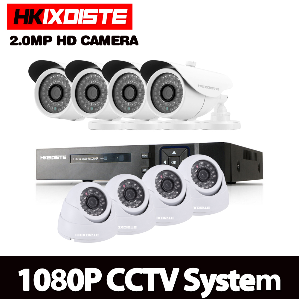 8CH 1080N HDMI DVR HD Dome indoor Outdoor 1080p Home Security Camera System 8 Channel CCTV Surveillance DVR Kit AHD Camera Set ahd 4ch 1080n hdmi dvr 1080p 2 0mpp hd outdoor security ahd camera system 4 channel cctv surveillance dvr kit ahd camera set