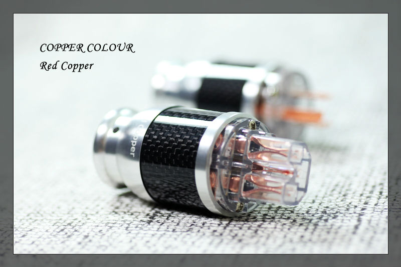 Free shipping Copper Colour  Pure Red Copper Carbon shell + beryllium alloy Plated US Power Plug