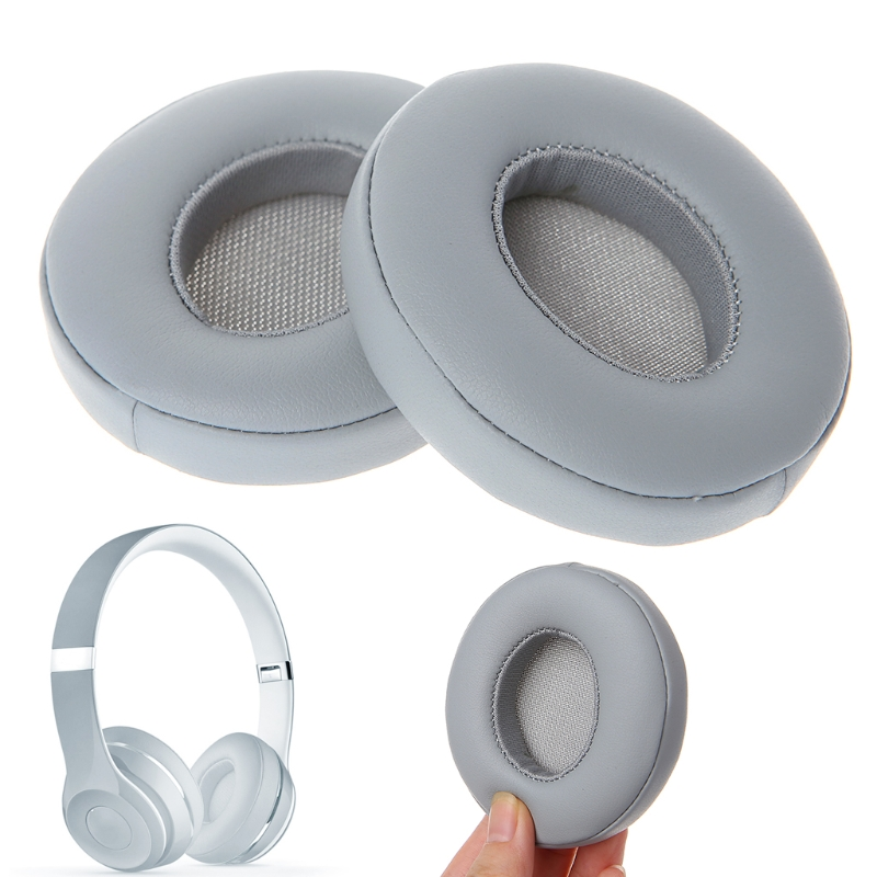 OOTDTY New Replacement Headphone Foam Earmuffs Cushion Ear Pads One Pair For Solo 2.0 Sponge and Faux  Leather