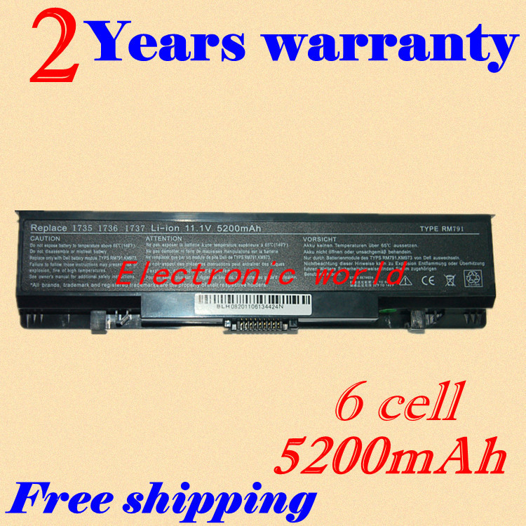 JIGU NEW 6 CELL Laptop battery for Dell 312 0711 451 10660 453 10044 MT342 RM791
