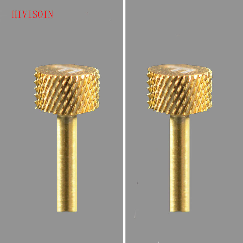 2PCS HIVISOIN Carbide Nail Drill Bit -  2-Week Backfill Bit  F  (Gold)