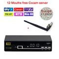 Freesat V8 súper receptor de satélite + 1 Año cccam Europa cline Servidor Cccam HD DVB-S2 Receptor de Satélite + USB WIFI apoyo 3G iptv