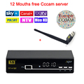 Freesat V8 super receptor de satélite + 1 Ano cccam cline Europa Servidor Cccam DVB-S2 HD Receptor de Satélite + USB WI-FI suporte 3G iptv