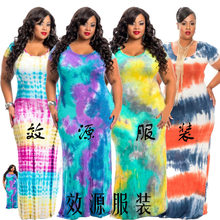 Sari India Women Indian Saree Shopping Pakistan Cotton Polyester 2017 New Europe Hot Tie-dye Tee And Large Size Dress(China)