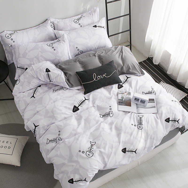 3/4pcs black and white checkered king queen full twin size bedding set duvet cover sets include duvet cover bed sheet pillowcase