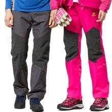 TECTOP Outdoor Softshell Pants Men And Women Softshell Hiking Pants Waterproof Windproof Thermal Traverse Hiking Ski Pants Men
