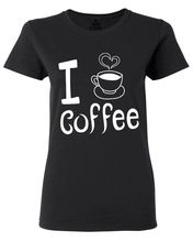 I Love Coffee Women's T-Shirt Funny Coffee Lovers Humorous T Shirts Novelty Printed Summer Cotton Women Tops White Style