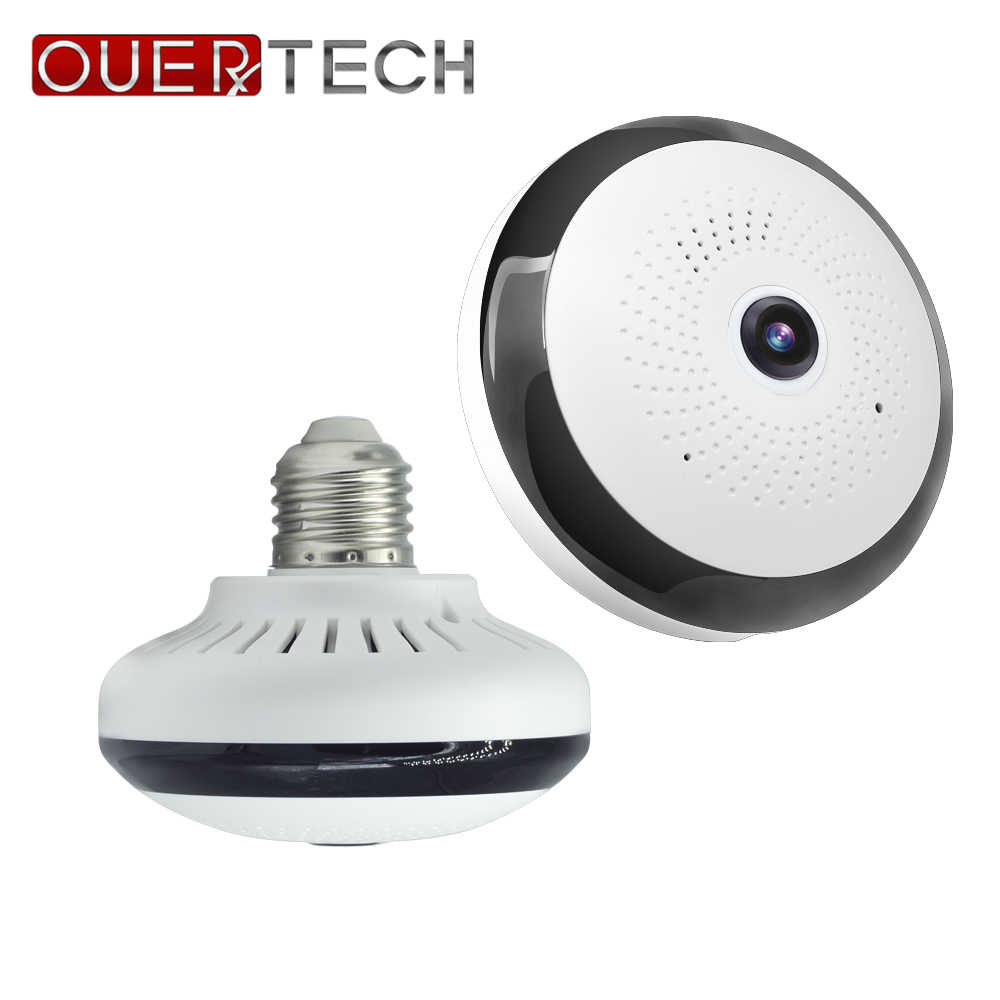 OUERTECH  WIFI  360 Degree Two way audio Panoramic  2.0MP Fisheye Wireless  IP Camera  support AC100-240V 128g app ICSEE