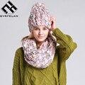 2017 de La Moda de Punto Bufanda Del Invierno Sombrero Sombrero Caliente Del Invierno Para las mujeres Sombrero Gorros Gruesa Capó Mujer Bufanda Bufanda de Las Mujeres cómodo