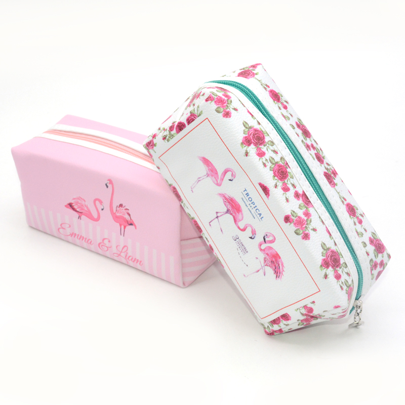 Pencil Case Flamingo Astuccio Kawaii Lapices Bag Etui Pennen Estuche Kawaii Pencil-Case Plumier Scolaire Fille School Pouch