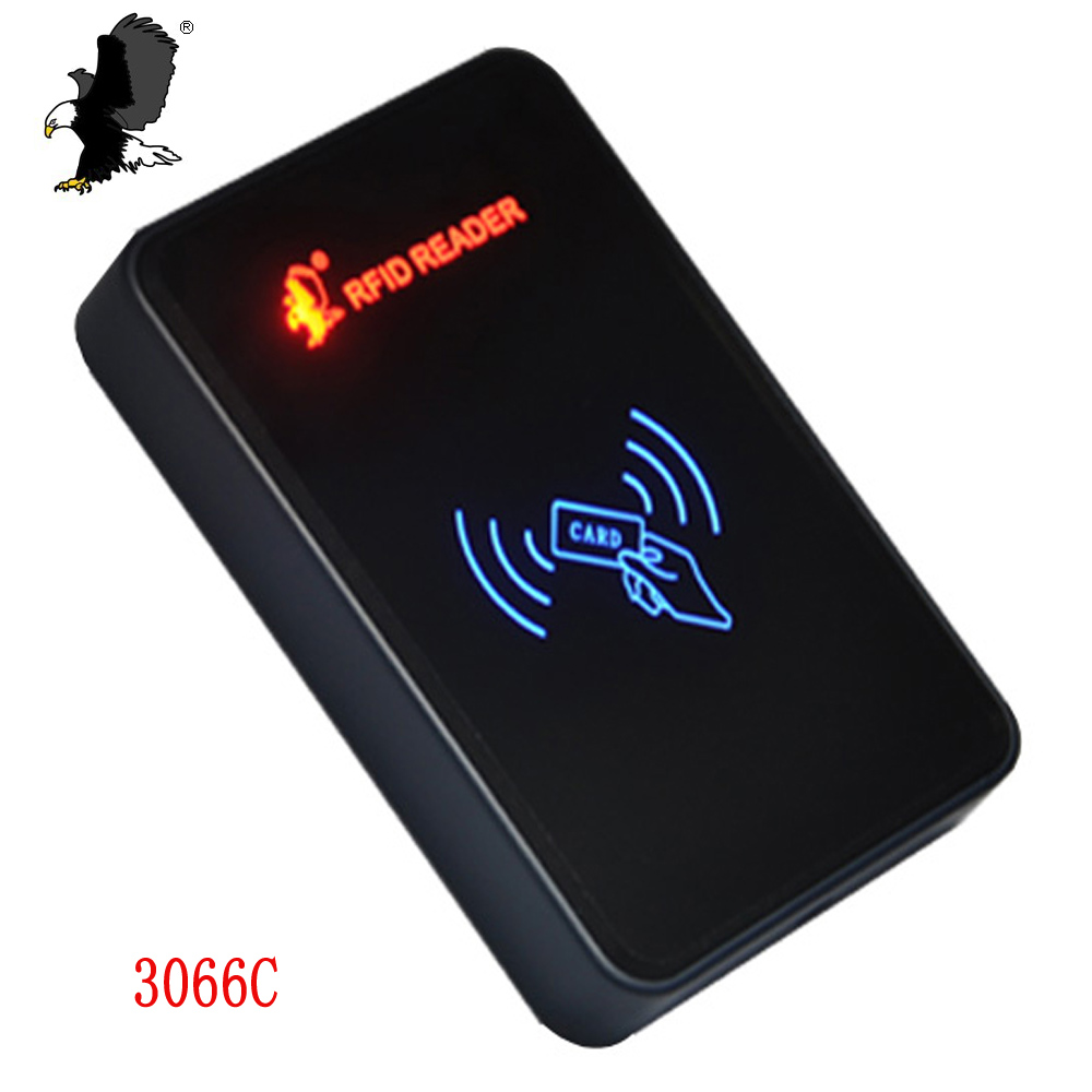 Access Control Smart IC Card CR-3066C Em Reader Wiegand 26/34 Home security access control system EM4100 Sensor carea access control 13 56mhz rfid smart ic card reader wiegand wg26 34 door system security proximity read wholesale price