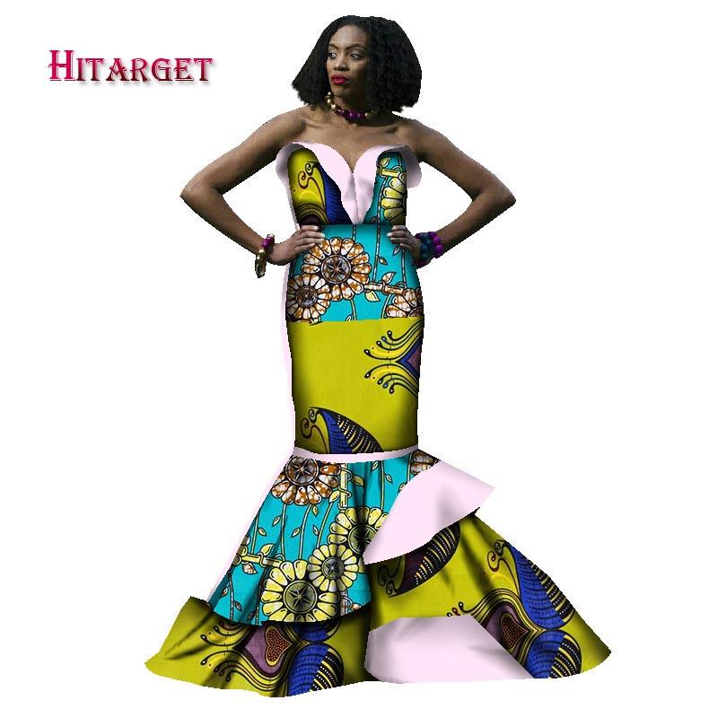 2017 vestidos africanos para las mujeres bazin riche estilo femme - Ropa nacional