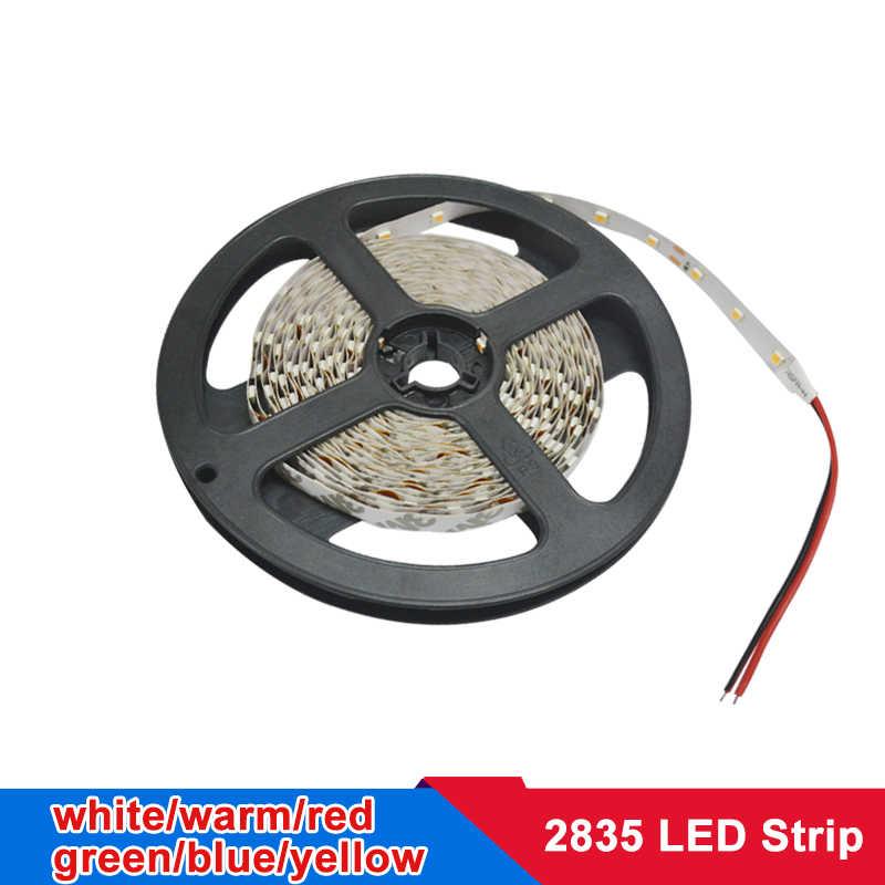 5m 2835 SMD tira LED banda flexible Led luces lámparas RGB caliente blanco rojo verde azul 12v DC LED cinta