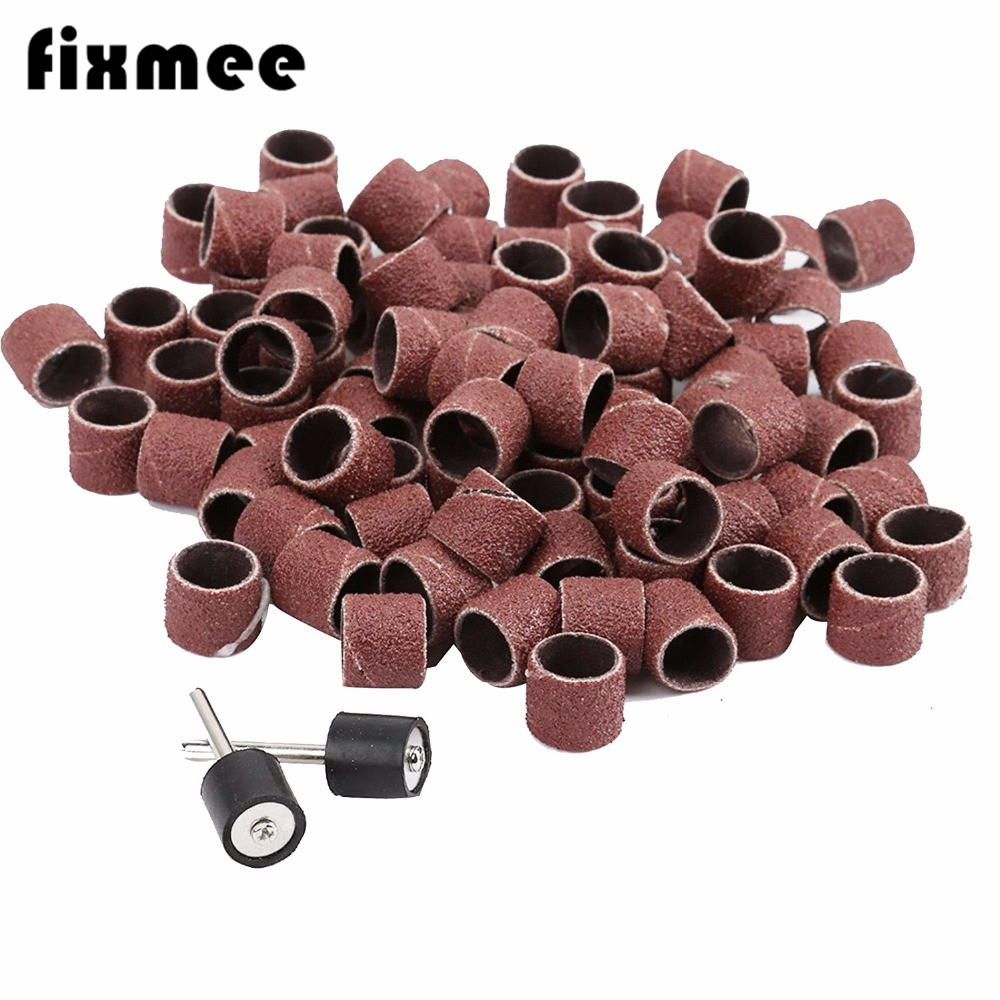 100x Sanding Sleeves 1/2 Sanding Paper Grinding Wheel Sanding Dremel Rotary Tool Sandpaper Abrasive Polishing For Woodworking