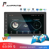 AMPrime 2din Car Radio Android multimedia player Autoradio 2 Din 7'' Touch screen GPS WIFI Bluetooth FM auto Car Backup Monitor