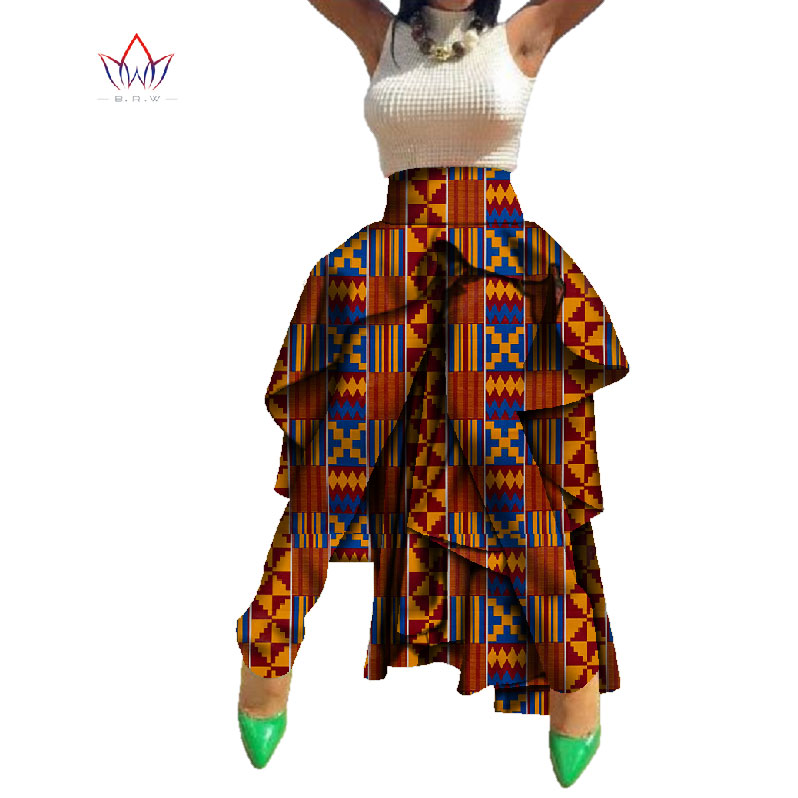 New Autumn African Wax Print Pants Dashiki Long Length Traditional Africa Clothing Bazin Plus Size Tuxedo Pants WY758