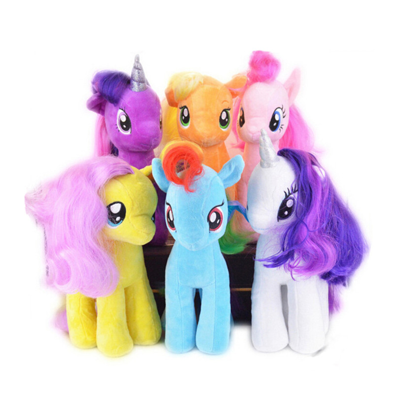 Hot 18cm Cute Rainbow Horse Toys Cartoon Toys Hobbies Stuffed Little Horse Wedding gifts Christmas gift Free Shipping new hot 18cm one piece donquixote doflamingo action figure toys doll collection christmas gift with box minge3