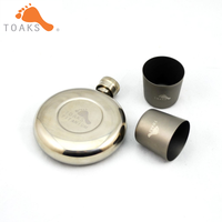 TOAKS Titanium Wine Flask with Shot Glass Combo Set FLASK 150 & SG 02
