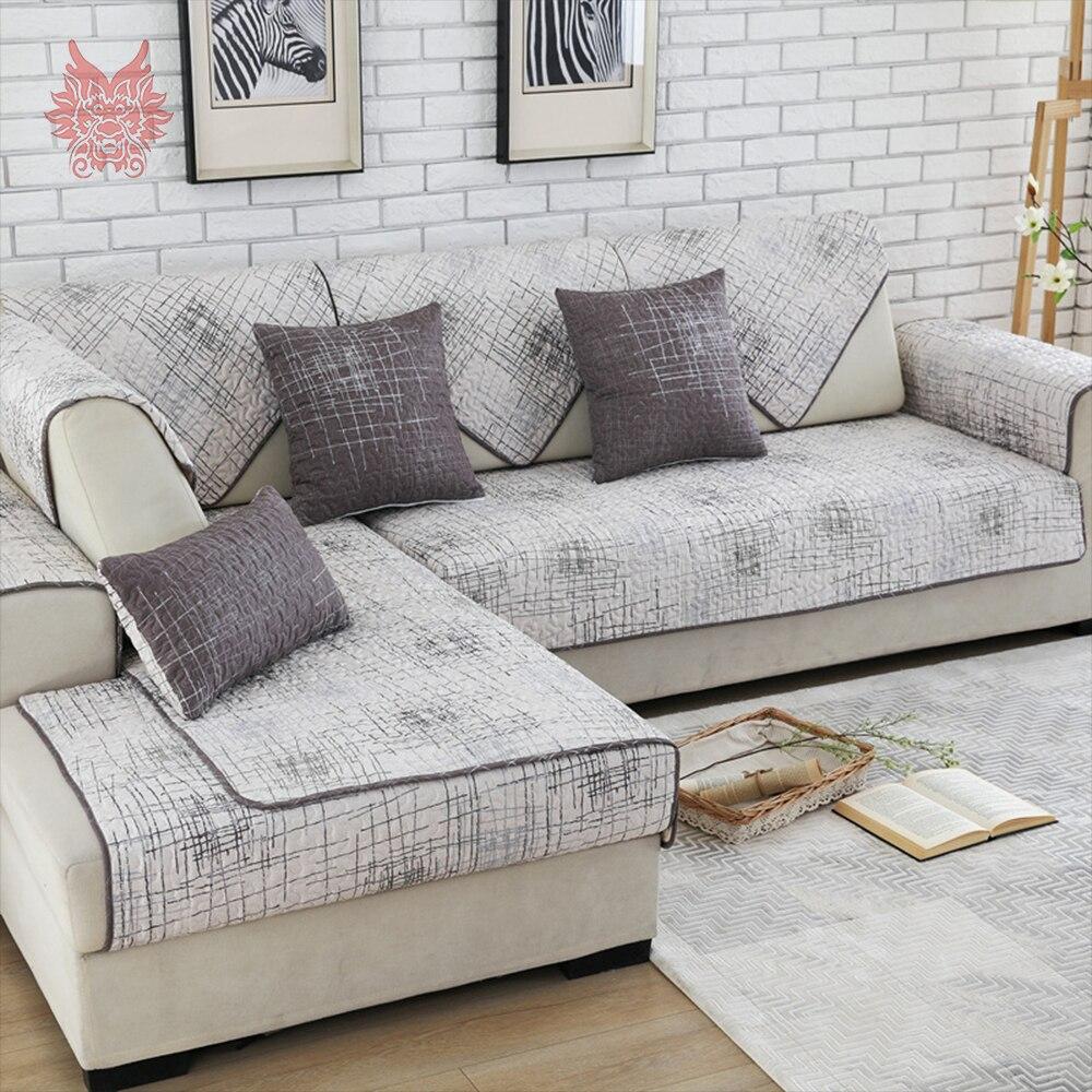 Геометрическая граффити печати стеганый диван крышка 100% хлопок Чехлы для мебели чехлов канапе Капа де диван протектор sp4134