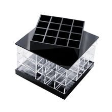 Acrylic Rotating Transparent Lipsticks Storage Box Portable Cosmetic Display Rack Dropshipping FAS(China)