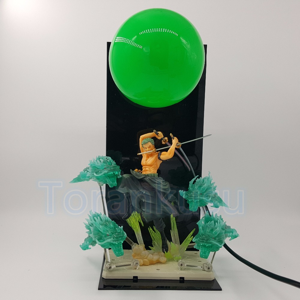 One Piece Action Figure Roronoa Zoro Dragon Fist DIY Display Model Toy Anime One Piece Zoro With Effect Figurine Lamp DIY107 new hot 17cm one piece 15th roronoa zoro action figure toys doll collection christmas toy with box