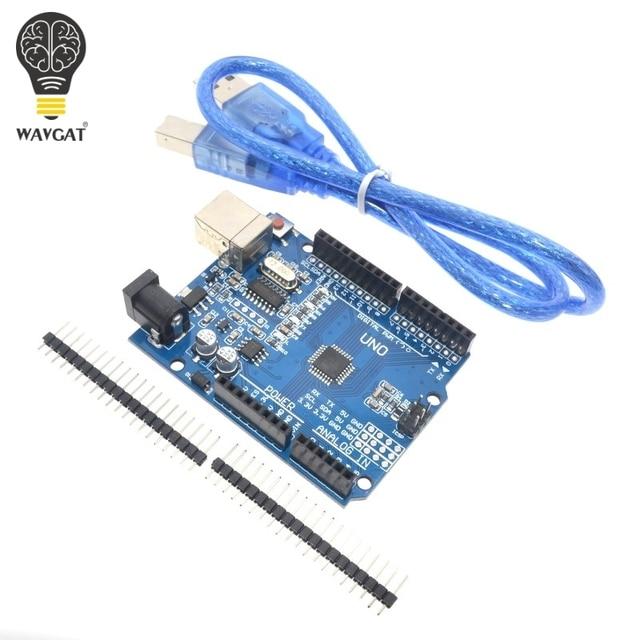 Hoge kwaliteit Een set UNO R3 (CH340G) MEGA328P voor Arduino UNO R3 + USB KABEL ATMEGA328P-AU Development board