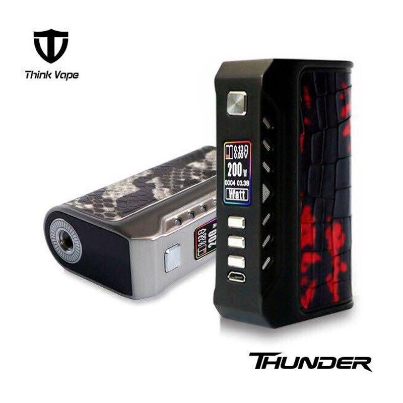 100% Authentique ThinkVape Thunder 200 w TC Boîte MOD ST 200C Chipset TC Max 200 w Sortie E-Cig vaporisateur Mod Par double 18650 batteries