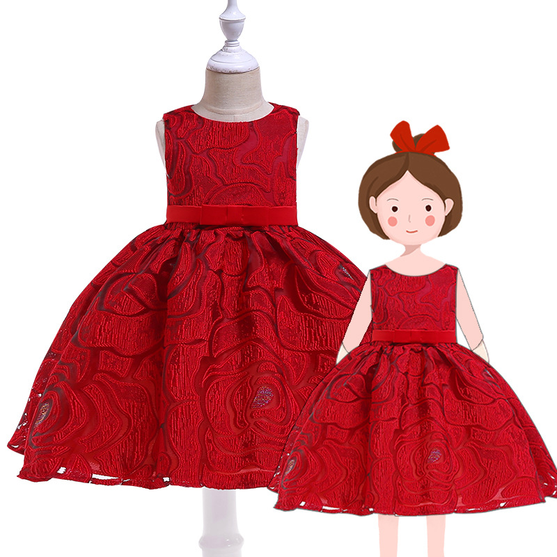 Dinosaur Kids A-line Swing Dress Baby Girls Ball Gown Princess Wedding Party