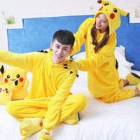 Winter Kigurumi Warm Unisex Adult Flannel Cartoon Pajamas Adults Cosplay Cute Animal Onesies Pyjama Sets Sleepwear