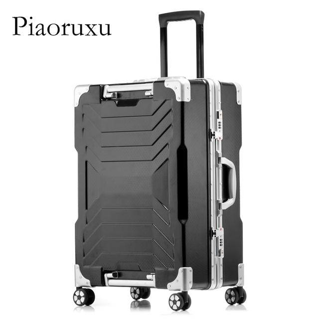 Piaoruxu Unisex Fashion Travel Large Capacity High Quality Luggage Free Shipping Rolling Hardside Luggage Rolling Trolley