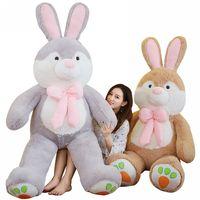 Fancytrader 59'' Giant Stuffed Bunny Plush Toys Soft Large Animals Rabbit Doll 150cm JUMBO Great Gift 3 Sizes FT16436