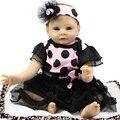 Реалистичные Возрождается Кукла 22 дюймов Дешевые Игрушки Силиконовые Куклы ребенок Жив Реалистичные Детские Игрушки Куклы Для Девочек День Рождения DIY настоящее